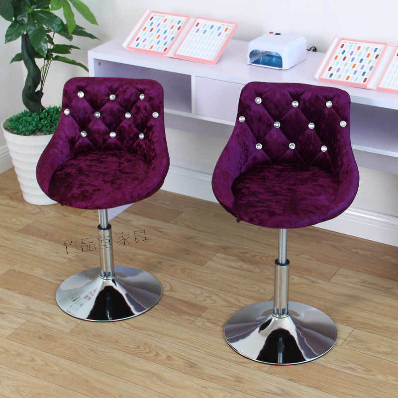 European Bar Chair Lifting Chair Rotating Chair Beauty Stool Nail Chair Backrest Chair Makeup Chair Modern Minimalist