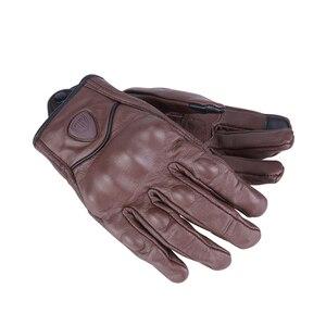 Image 2 - Nordson Retro Motorcycle Gloves Men Leather Waterproof Winter Touch Screen Motocross Gloves Full Finger Motorbike Moto gloves
