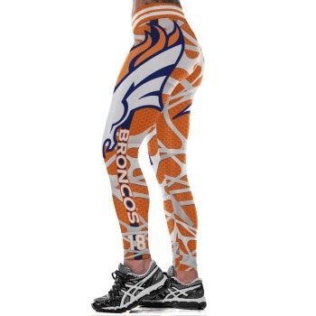 Unisex Football Team Broncos 18 Print Tight Pants Workout Gym Training Running Yoga Sport Fitness Exercise Leggings Dropshipping 1