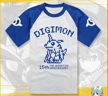 Digimon Adventure Casual Cotton T shirt font b Pokemon b font Unisex Fashion Summer Short Sleeve