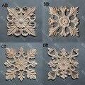 Móveis de madeira maciça moda plantas decoração loudiao quadrado flor dongyang escultura em madeira esculpida applique de lascas de madeira