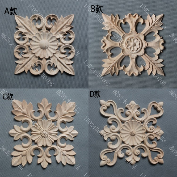 wood appliques for furniture. solid wood furniture fashion plants decoration loudiao square flower dongyang carving carved applique chip appliques for l