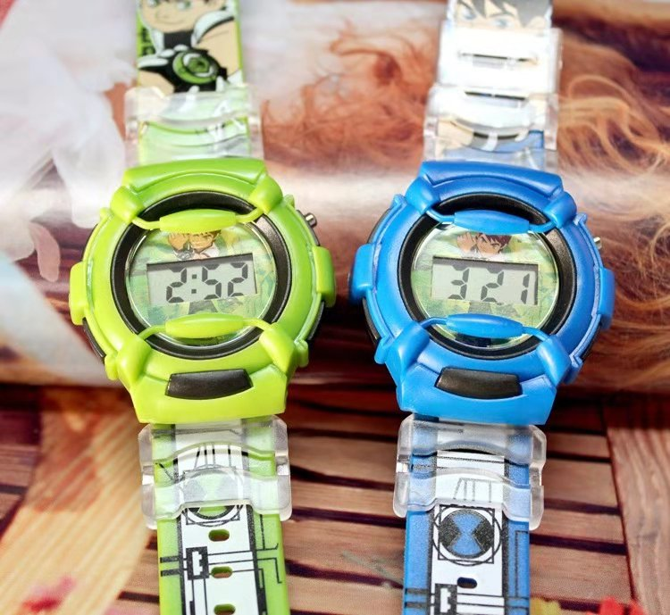 Pentium Silicone Cute And Handsome Cartoon Watch Boy Fashion Ben10 Children Electronic Watch