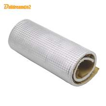 Buildreamen2 35cm x100cm Aluminum Foil Car Door Roof Tailgate Noise Control Soundproof Heat Insulation Cotton Deadener