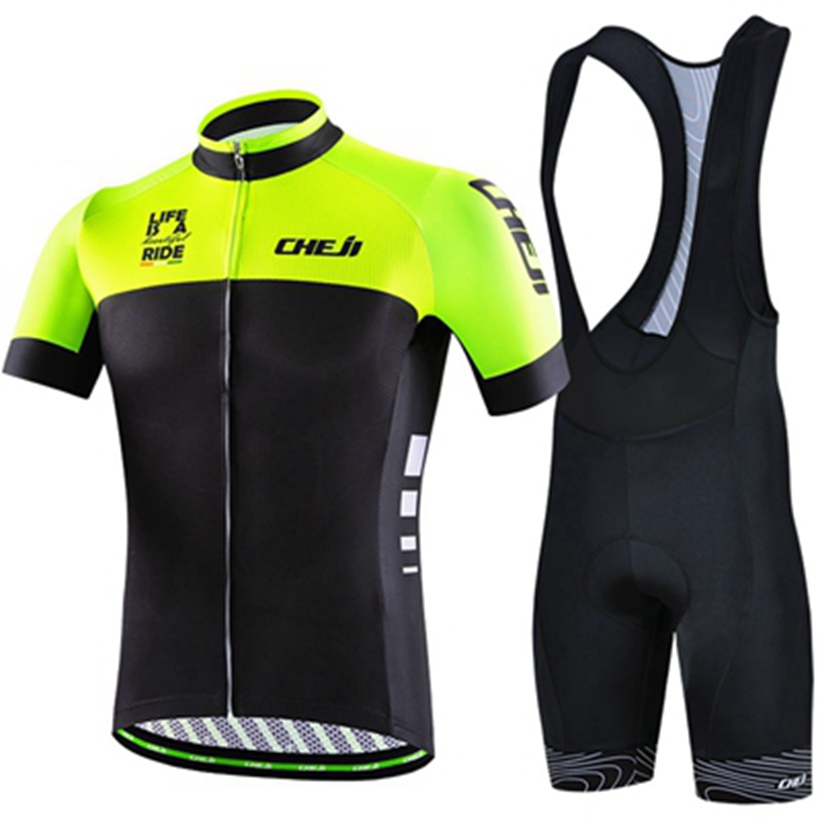 CHEJI  Men Women MTB Cycling Clothing Summer bike Jersey Bib Shorts Female Male Outdoor Sports Pro team ropa Bicycle Wear set