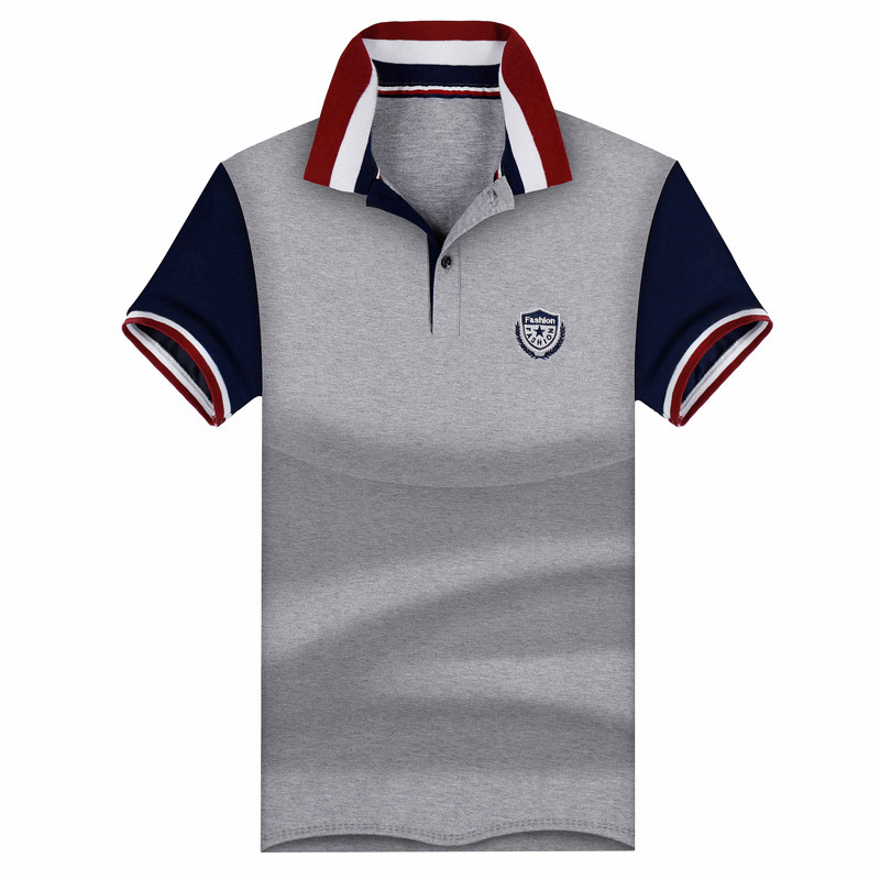 95% Cotton Men   Polo   Shirt Plus Casual Male Summer Fashion New Stitching Short SLeeved Clothing