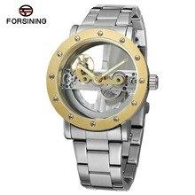 Forsining Mecánico Relojes Para Hombre Reloj Automático de Los Hombres Reloj Mecánico de Lujo de Marca Famosa Acero Inoxidable Hodinky Orologio Uomo