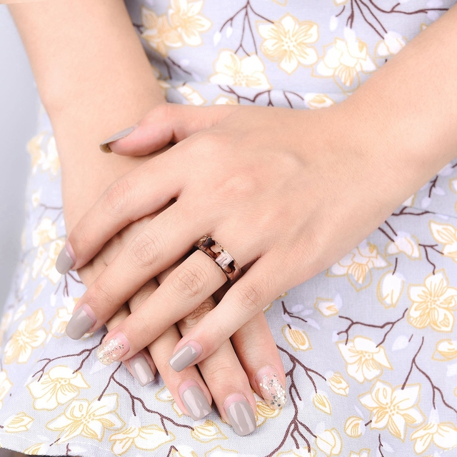 LIEBE ENGEL Hot Sale 8 Colors Gold Foil Paper Inside Resin Ring For Women And Men Jewelry Colorful High Quality Handmade Ring 4