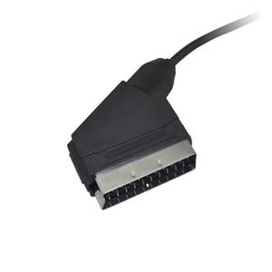 Image 5 - 10 יחידות הרבה A/V כבל Scart כבל משחק וידאו טלוויזיה עבור Nintendo SNES עבור קונסולת Gamecube וn64 תואם עם NTSC