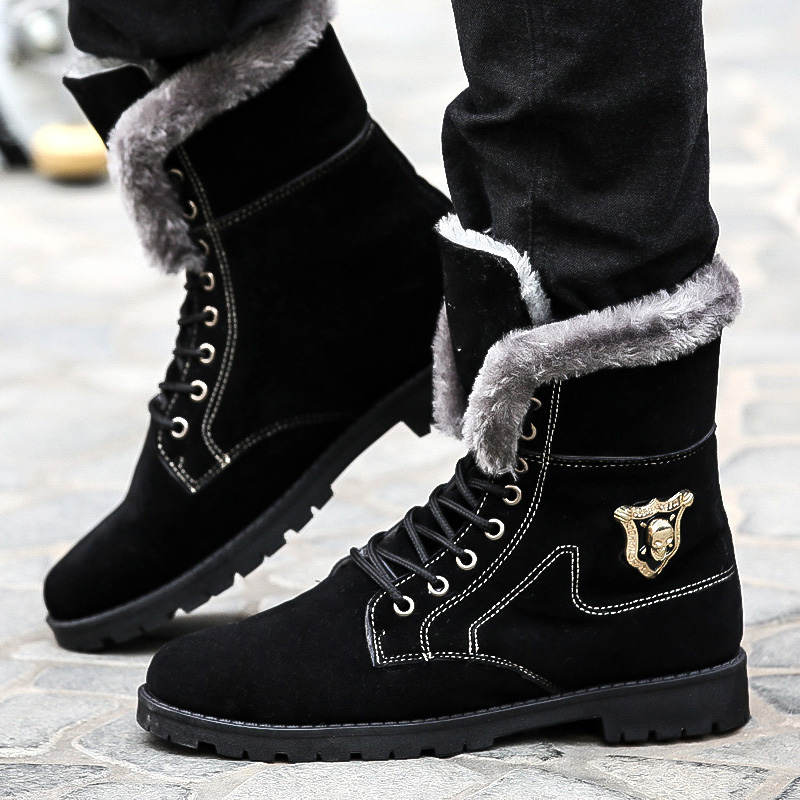 High Quality Long Winter Boots for Men Pu Leather Tall