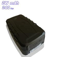 GPS del coche Perseguidor Impermeable Rastreador GSM Seguimiento Vehical LK209C, Tiempo de Espera de 240 días, Honorario Libre de APP Web GPS plataforma