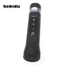 Kebidu 2017 Mini USB Rechargeable vélo lumineux lampe de poche LED lecteur de musique sans fil Bluetooth haut parleur vélo vélo lumière