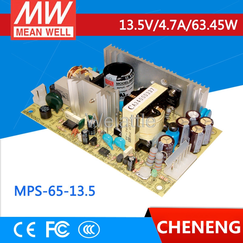 MEAN WELL original MPS-65-13.5 13.5V 4.7A meanwell MPS-65 13.5V 63.45W Single Output Medical Type advantages mean well mps 65 12 12v 5 2a meanwell mps 65 12v 62 4w single output medical type