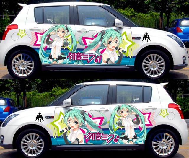 2PCS Customizable Anime Whole Cute Car Stickers Graffiti