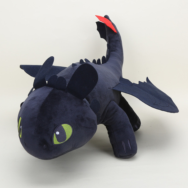 33 55cm Cute Night Fury Plush Toy How To Train Your Dragon 2 Toothless