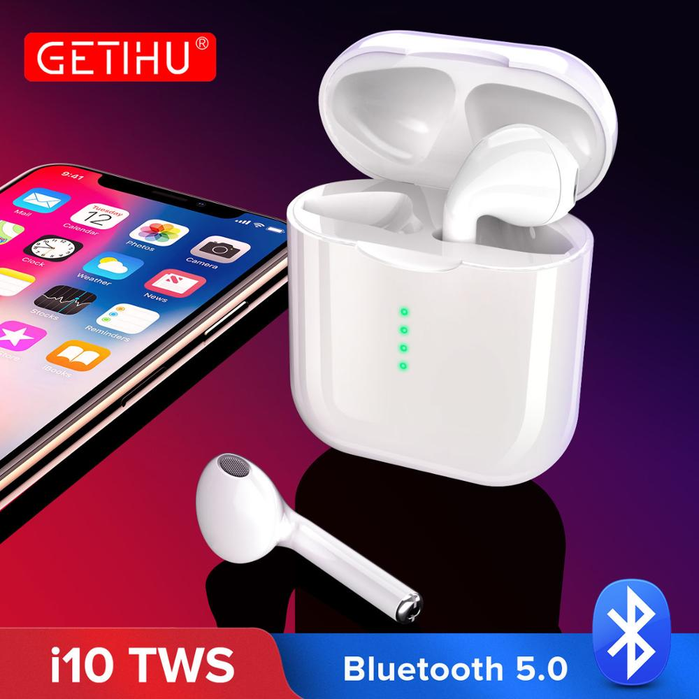 <font><b>i10</b></font> i10S 1:1 <font><b>TWS</b></font> <font><b>Bluetooth</b></font> <font><b>5.0</b></font> Earphone Mini Touch Control Phone <font><b>Wireless</b></font> Headphones Charging Box Cordless Sport Headset <font><b>Earbuds</b></font> image