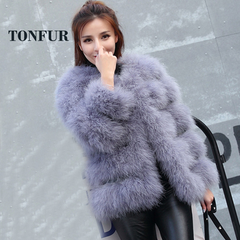 fd1b7ea01bbfe 2019 высокое качество, опт и розница, страусиное меховое пальто для женщин,  100% натуральная Турецкая Меховая куртка жилет TSR113