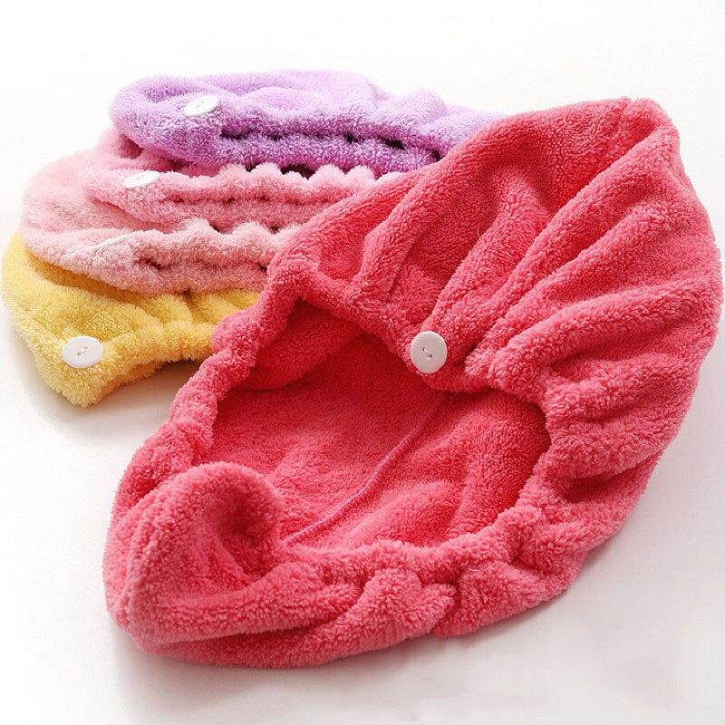 Новые волосы Полотенца одноцветное полотенце из микрофибры Для женщин быстрый сухой Полотенца S суперабсорбирующих головы Обёрточная бума... ...
