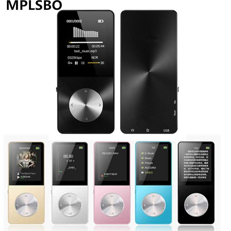 MPLSBO 2018 HIFI MP4 Lecteur 4G 8G 16G all metal Touche tactile MP3 Langues Incassable Résistant Aux Rayures Montre Enregistreur E-Book FM