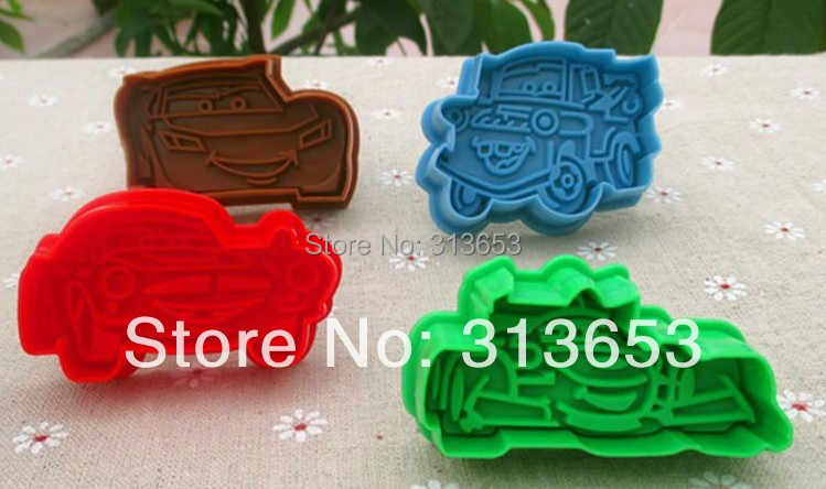 New arrival 8pcs/set Cars- cookie stamps-PLEX Biscuit sugarcraft Arts set  Fondant Cake tools mold cookie cutters -free shipping