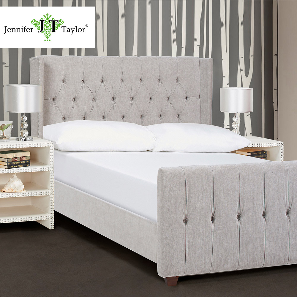Bed furniture with price - Jennifer Taylor David Silver Cloud Queen Upholstered Bed Queen 67 W X 88 D X 54 H