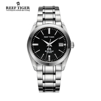 Reef Tiger Top Brand Luxury Business Watches Men Fashion Sport Automatic Stainless Steel Waterproof Watch Relogio Masculino