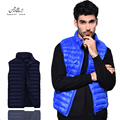 Oversized 9 Colors Free Shipping New Fashion Winter 2017 Men Plus Size 95% DucK Down  Vest Coats And Jackets Men Winter Clothing
