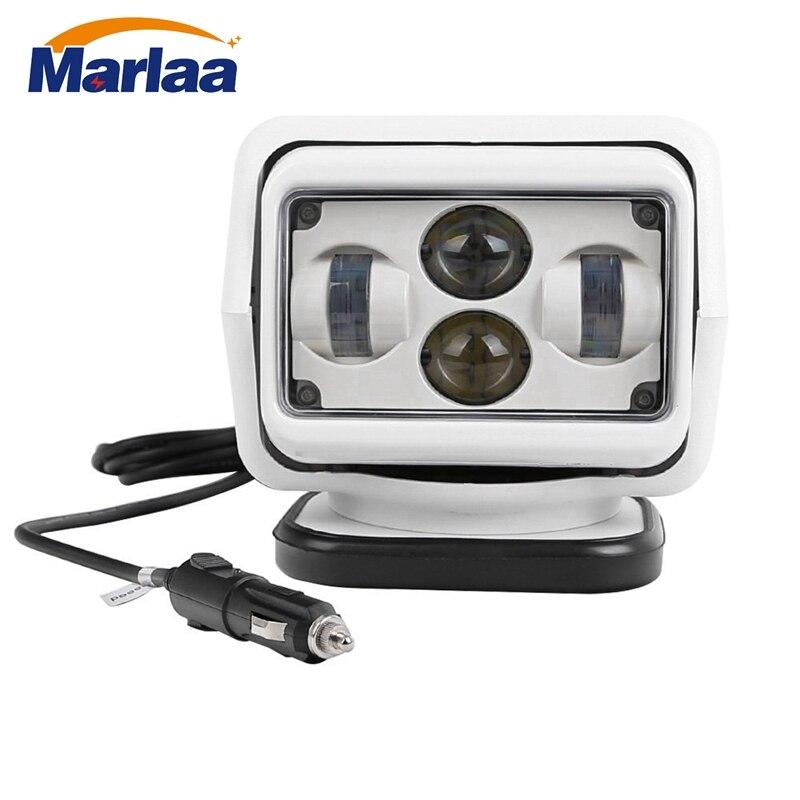 Marlaa 7 Pouce 60 W Led Télécommande Lumière Sans Fil aimants recherche Lumière Camp de Chasse De Pêche Bateau Marine 4x4 Offroad Travail lampes