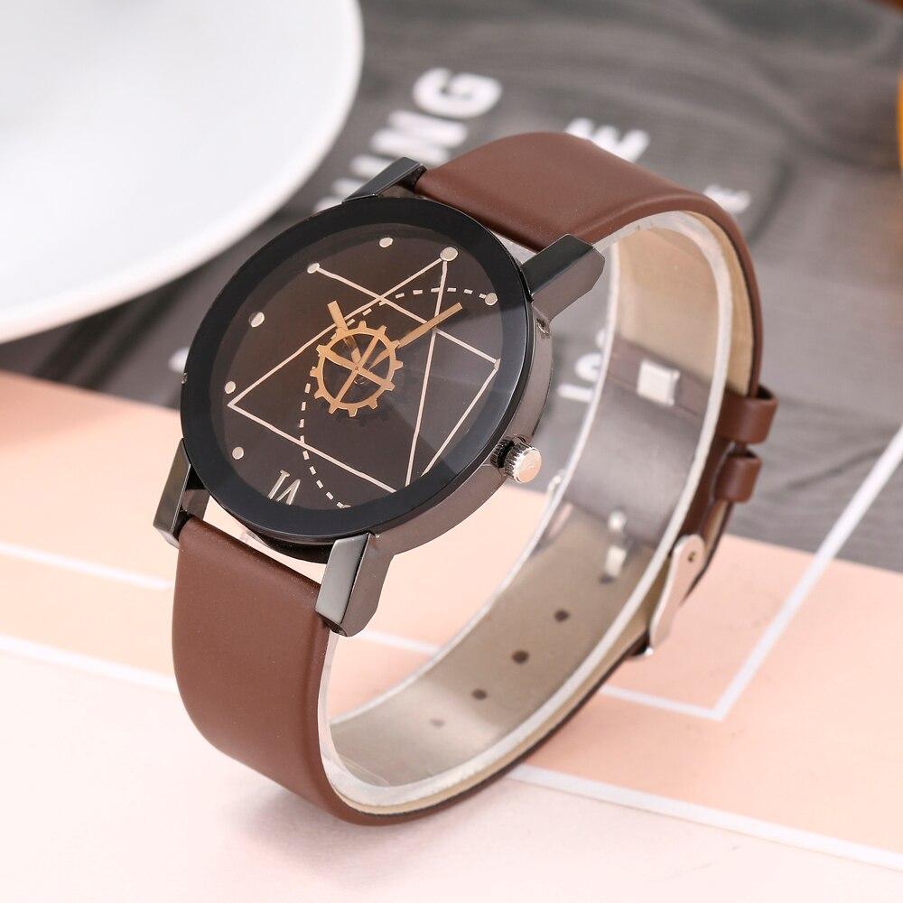 2018 Fashion Watch Clock Gift Men Luxury Brand Unisex Popular Womens Watches Quartz Stainless Steel Dial Leather Band Wristwatch