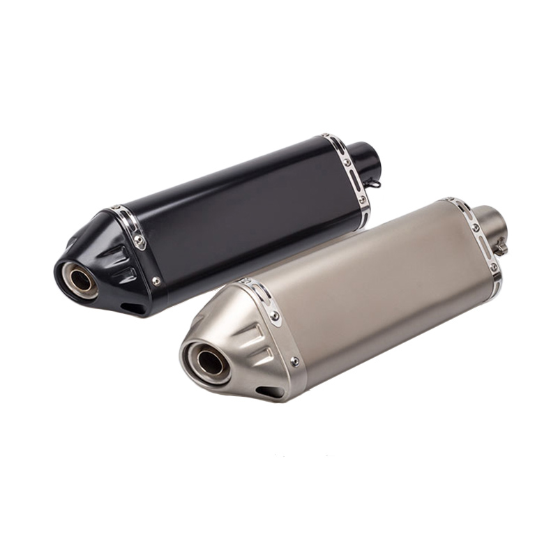 Motorcycle Exhaust Pipe Muffler ID 51mm Stainless Steel Exhaust Pipe With Removable DB killer Motorcycle Escape