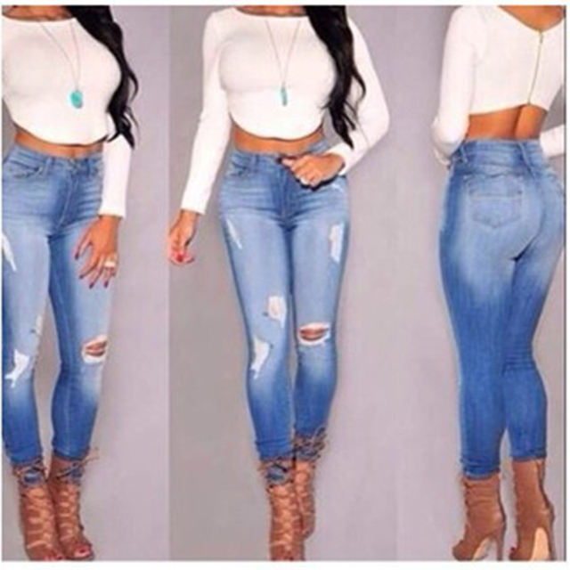 Aliexpress.com : Buy 2016 High Waist Women Jeans Plus Size Women ...