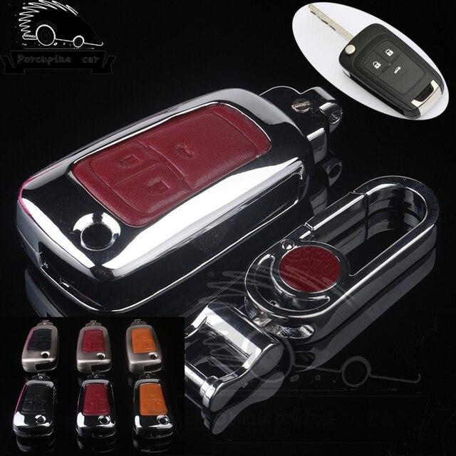 Zinc alloy Leather Key Cases Car Key for Chevrolet Cruze BUICK ENCORE OPEL VAUXHALL MOKKA Insignia 3 Buttons