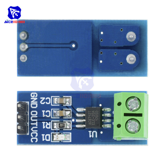 Module de capteur de courant Hall 1 pièce ACS712 pour Arduino avec Module de transmission de courant Hall 5A/20A/30A ACS712 pour Arduino
