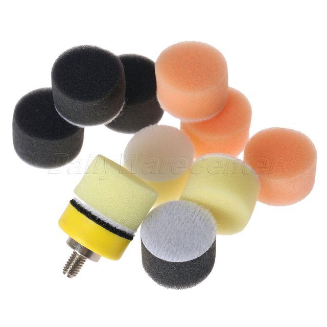150Pcs 1inch Car Sponge Polishing Pad Kit M6 Polishing Pad Kit Buffing Pad Set Thread Polishing Pad Kit For Car Polisher 25mm