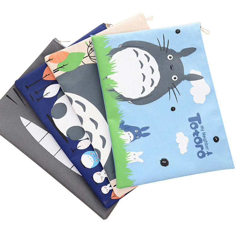 Document Bag Oxford Wear Resistant Cute Cartoon Toto A4 Handbag Folder For Documents Holder Organizer For The Office School