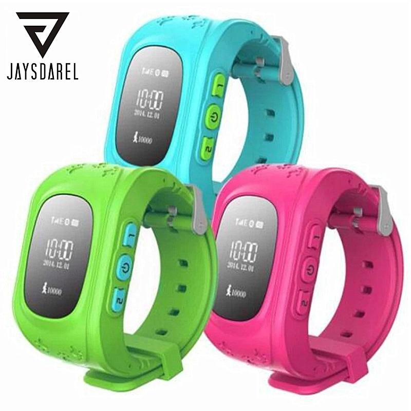 JAYSDAREL Q50 Kid GPS Tracker SOS Call Keeper Safe Smart Watch OLED Fëmijë Fëmija Monitorues i humbur nga distanca Dorezë iOS iOS Android