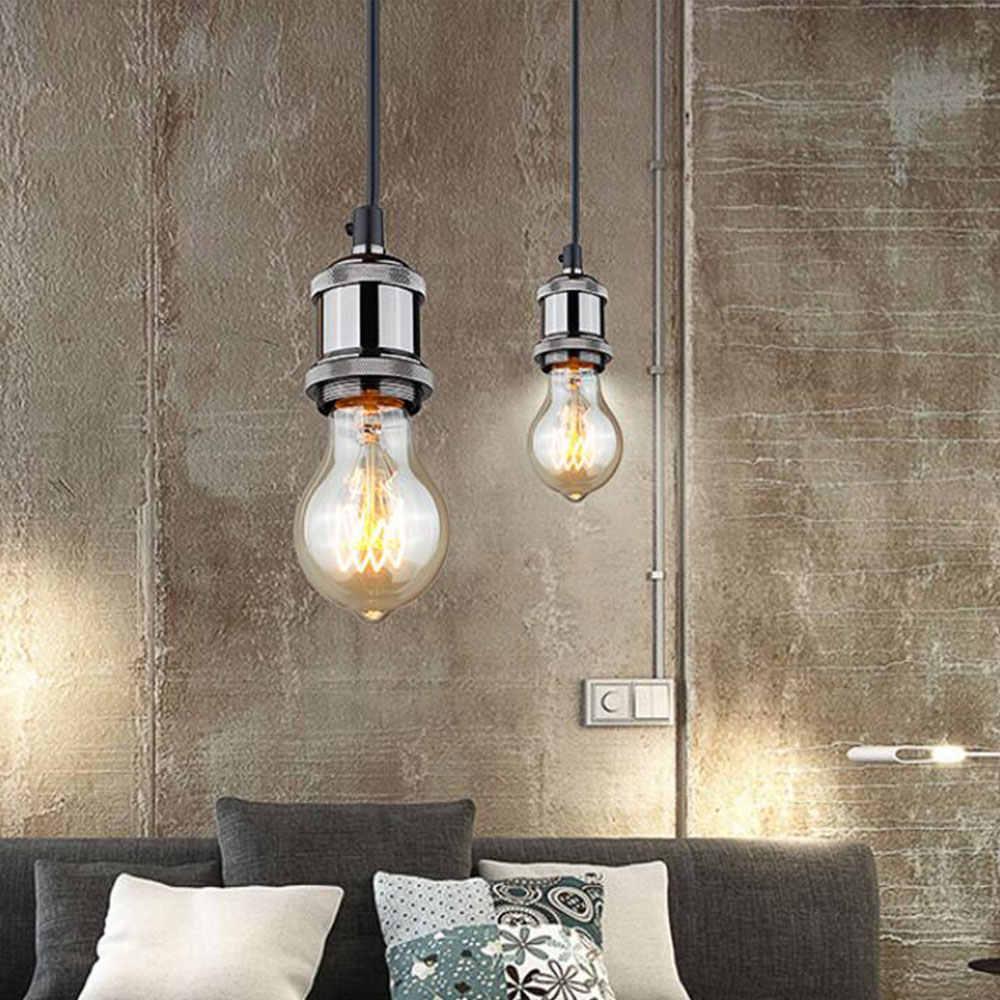 Винтажная Эдисон лампа базы подвесной светильник E27 винтовая лампа алюминиевая основа световая розетка промышленная Ретро фурнитура держатель лампы приспособление