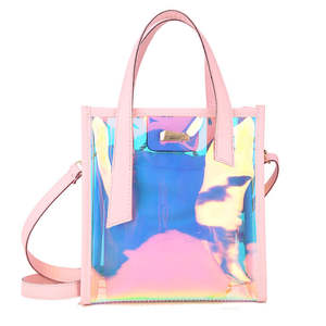 Holographic Laser Messenger Bags Jelly Rainbow Hologram Transparent Handbag for Women Composite Bag Ladies Shoulder Bag