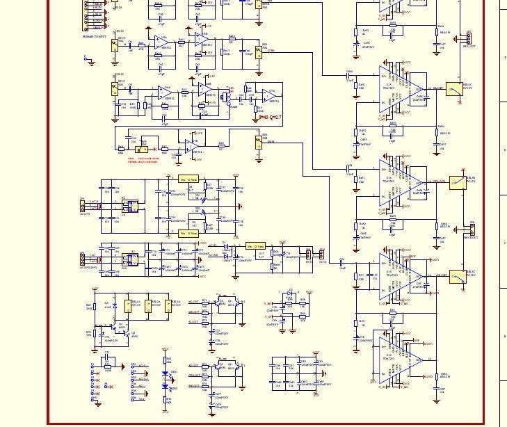 Схема предусилителя 5.1