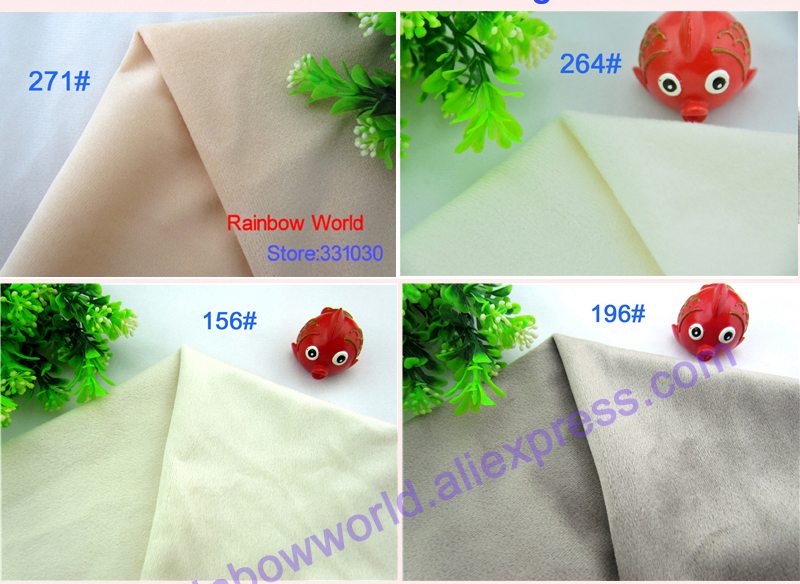 196# Gray Color Super Soft Short Hair 0.5-1.5mm Fleece Fabric Velvet Microfiber Velboa for DIY Patchwork Toy Sofa Pillow