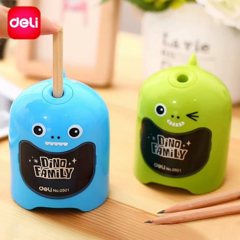 Deli Electric Pencil Sharpener Top Brand High Quality Desktop Accessory Stationery 0ffice School Supplies Dinosaur Toy for Kids deli office supplies school stationery sharpener convenient electric automatic battery operated desktop color pencil sharpener