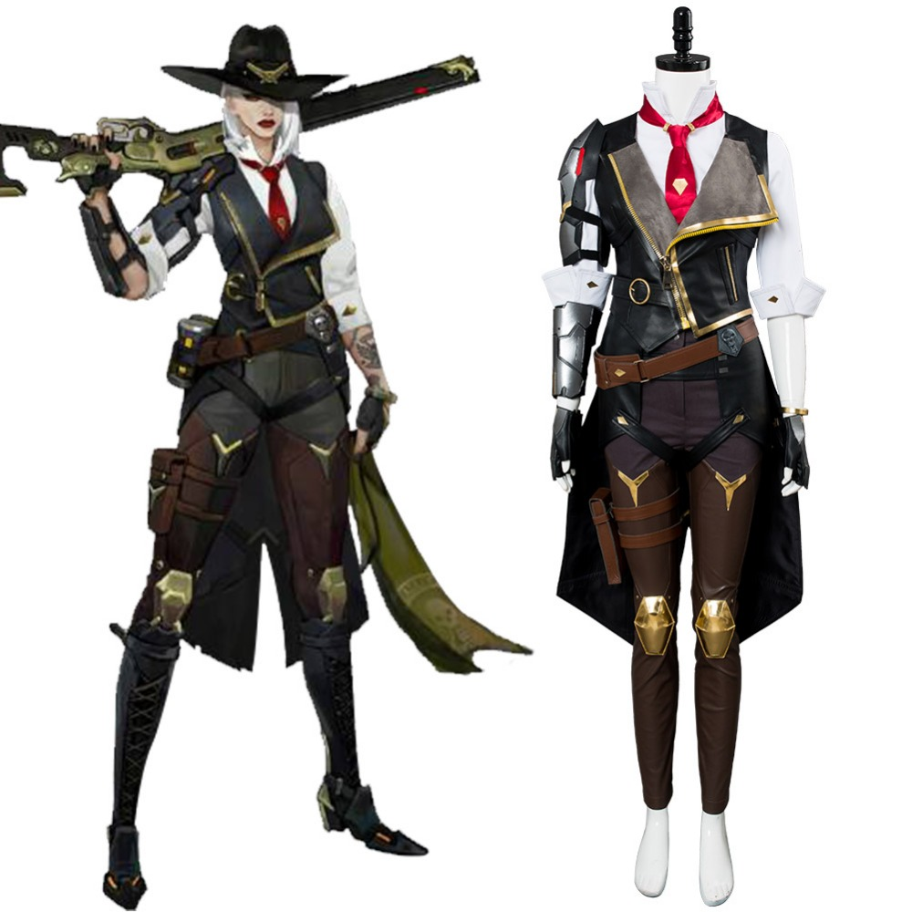 OW Ashe Cosplay Elizabeth Caledonia Cosplay Costume Outfit Uniform Full Suit Halloween Carnival Costumes Tailor Made