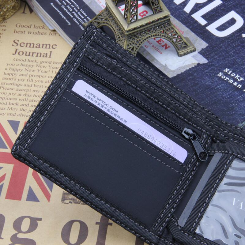 Leisure Fashion Wallet Men Top Quality Card Holder Small Wallet Canves Purse Male Money Bag Short Zipper Wallet Coin Pocket