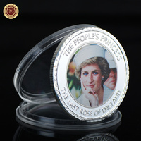 WR Luxury Souvenir Gifts 999.9 Silver Plated Royal Diana 20th Metal Coin Festival Souvenir Gifts Challenge Coins Art Crafts
