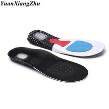1 para silikonowe wkładki do butów wkładka sklepienie łukowe Unisex pogrubienie amortyzacja sportowe buty klocki wygodna miękka wkładka tanie tanio YuanXiangZhu 1 cm-3 cm Średnie (b m) 20180411002 Stałe Dezodoryzacji Szok-chłonnym Lekki Arch Pomoc Oddychające EU35-40