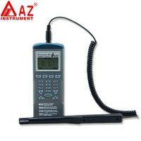 Az9651 высокая точность температуры и влажности рекордер ручной logger с RS232 программного обеспечения различные режимы измерения