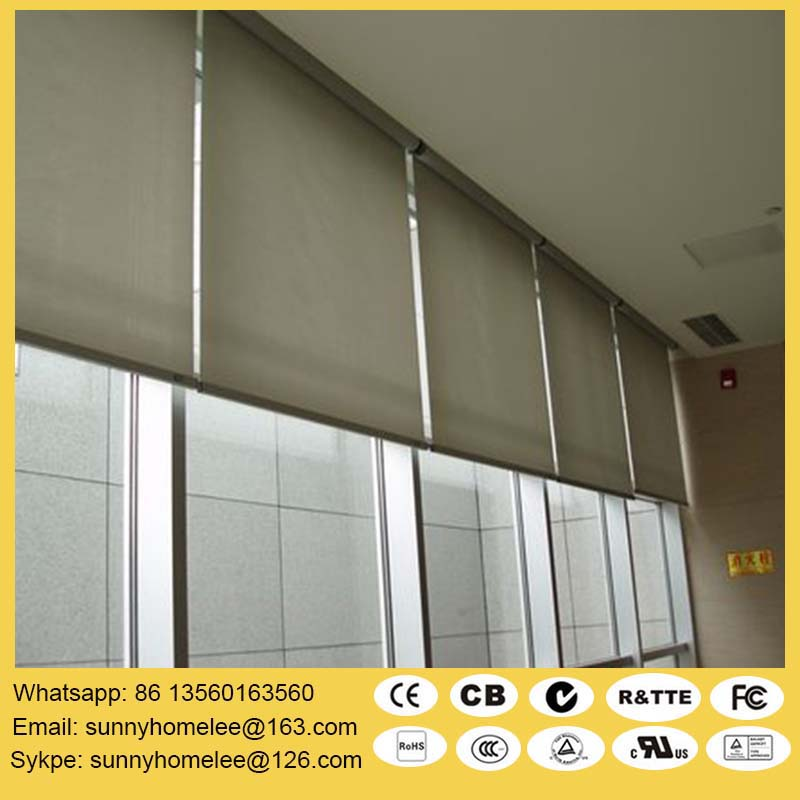 Electric Roller Shades With Fabric 2 4 Wide Size