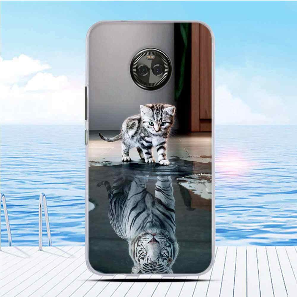 モトローラモト X4 XT1900 × 2017 (4th 世代) カバー Tpu シリコン電話のカバーのため X4 × 2017 (4th 世代) カバー