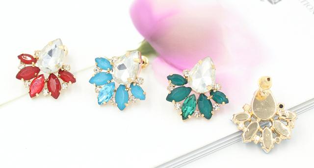Shiny Rhinestone Crystal Stud Earrings