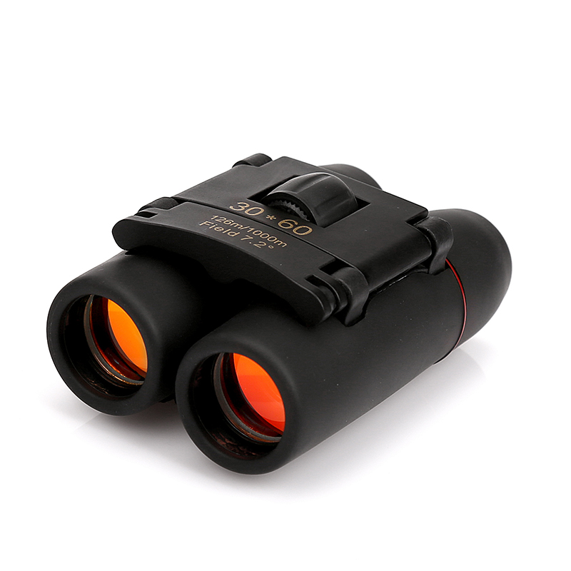 30x60 Red Film High-power Binoculars Portable Mini-telescope Military Binoculars Telescope Telescopio High Quality Free Shipping free shipping best selling high definition hunting 7x50 military cheap high power military telescope binoculars for sale
